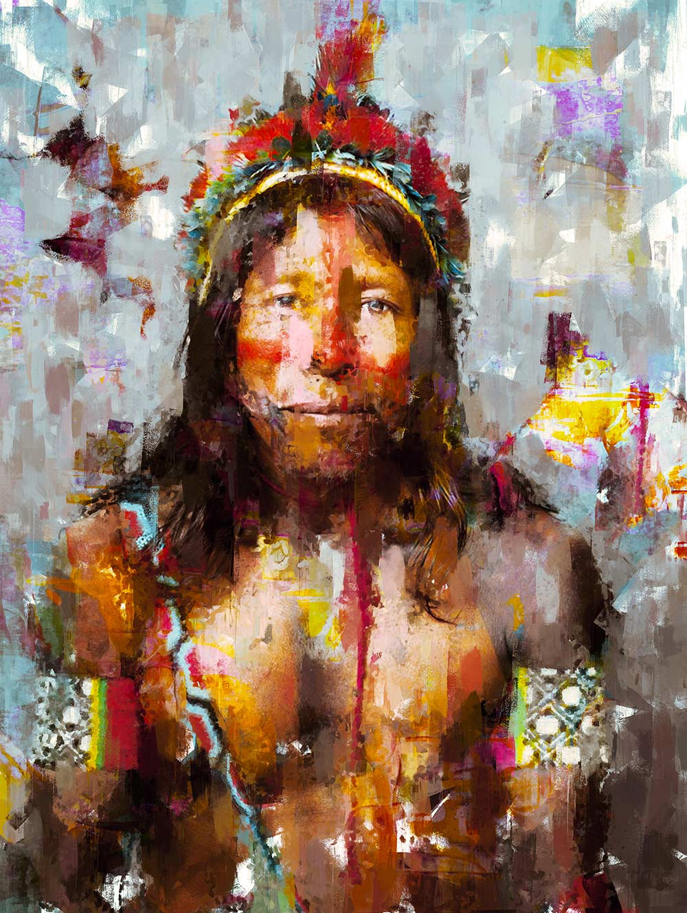 Kayapo Tribe Portrait 01
